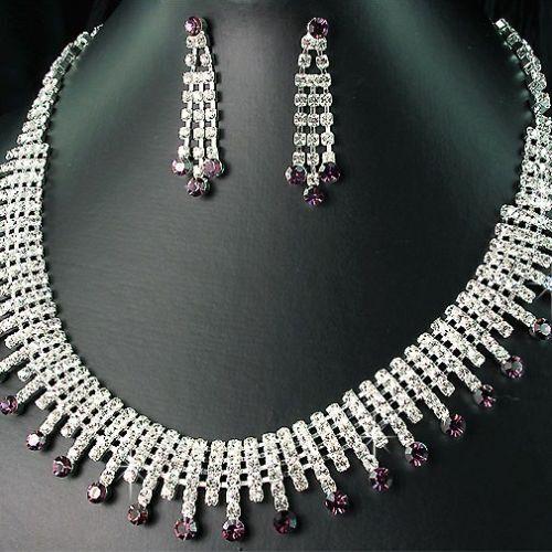 BRIDAL//WEDDING  Crystal//Diamonte Necklace Set *4**