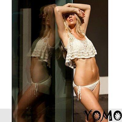 2pcs/3pc Handmade SEXY White BIKINI COVER UP CROCHET BEACH SWIMSUIT Swimwear