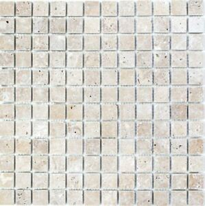 Mosaik Fliese Travertin Naturstein walnuss Küche Bad Wand 43-44023_b ...