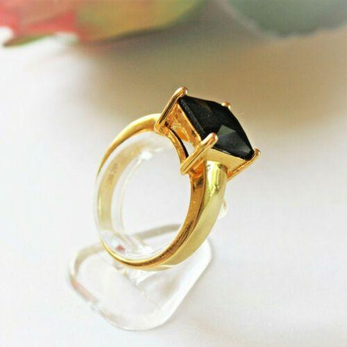 750pl Saphir Onyx schwarz  Gr 61 Ø19,4 Exquisit Damen Herren Ring Gold 18K GP