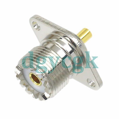 UHF SO239 so-239 female 2-HOLE flange diamond solder cup Panel mount connector