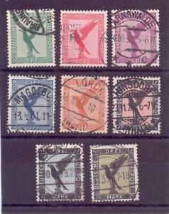 Dt-Reich-1926-Flugpost-MiNr-378-384-gestempelt-Michel-170-00-113