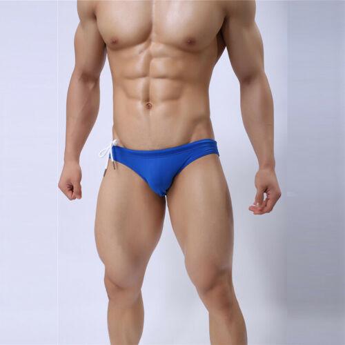 Mens Boxer Briefs Swimming Trunks Underwear Speedos Low Rise Swimwear Beachwear