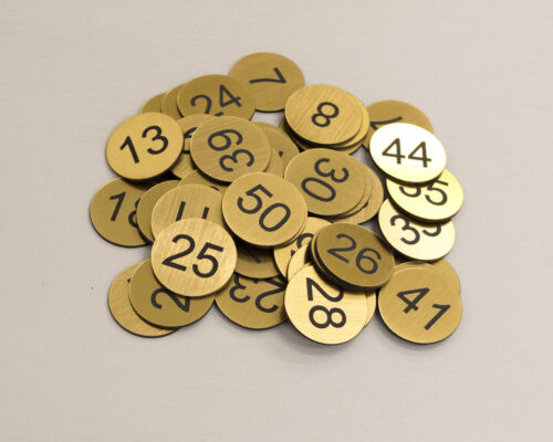 Locker Clubs Tags Pub 200pcs x 3cm Custom Engraved Number Discs Restaurant