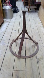 Antique Hoof Jack Farrier Stand Horse Shoeing Tripod Hand Forged