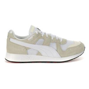 Puma Men's RS-100 Core Whisper White/Puma White Sneakers 36966202 NEW!