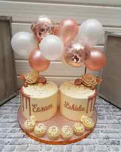 BALLOON-CAKE-TOPPER-ROSE-GOLD-CONFETTI-BRIDE-PARTY-BIRTHDAY-WEDDING-ARCH-GARLAND