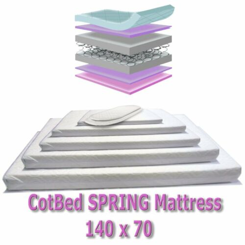 Baby Cot Bed Mattress Deluxe Spring For Saplings Cot Bed Range 139x69 Cm