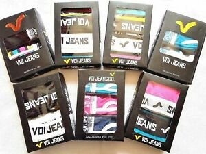 Men-039-s-VOI-JEANS-Boxers-Boxer-Shorts-Trunks-2-Pack-Cotton-Black-Turquoise-Small