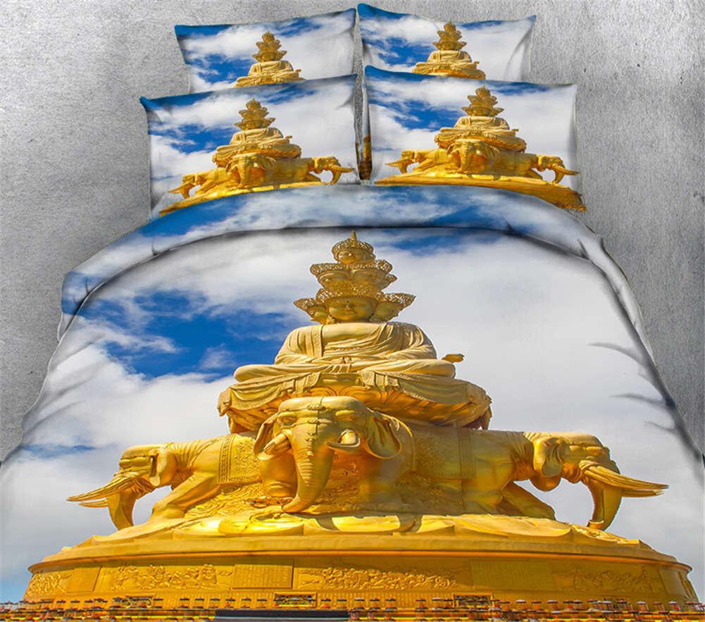 Adamantine Figurine 3D Druckening Duvet Quilt Will Startseites Pillow Case Bettding Set