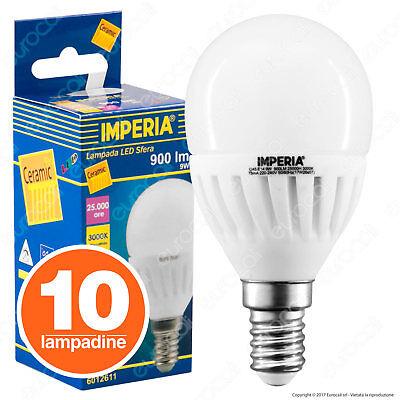 10 LAMPADINE LED E14 Mini Globo a Scelta da 3W a 9W Sfera Opaca P45 Vtac Q Tech