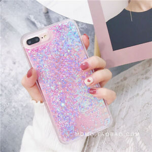 size 40 6086f 40fad Bling Glitter Liquid Gel Soft Phone Case Cover For Apple iPhone XR X ...