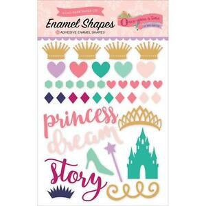 Scrapbooking Crafts EP Once Upon A Time Girl Enamel Shapes Princess Castle Crown