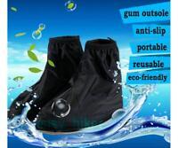 Men Reusable Rain Shoe Covers Waterproof Shoes Overshoes Boot Gear Anti-slip