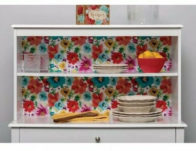 """Pioneer Woman Breezy Blossoms Floral Adhesive Laminate Roll 20""""x12' Covering"""