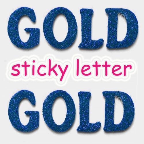 Leters Glitter Big Alphabet Lettre Stickers Adhésive À faire soi-même A4 Dacoration