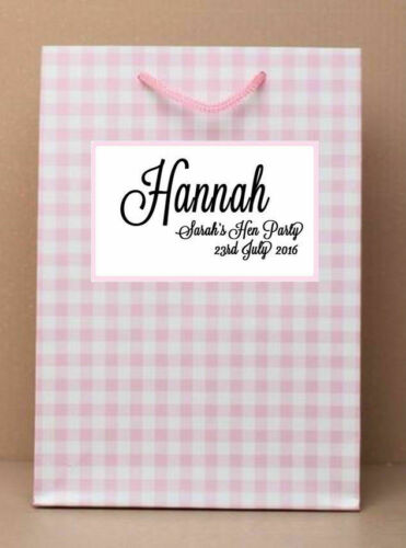 Personalised Hen Party Bag Night Do Vintage Classy Elegant Favour Gift for Bride