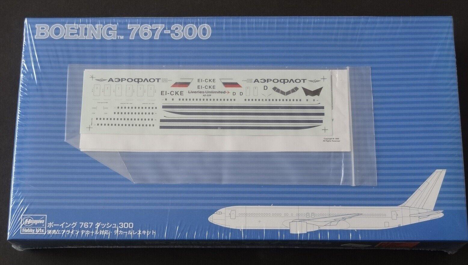 Hasegawa 1  200 BOEING 767 -300 Aeroflot  Liveries Unbegränsad Decal \\35;SP197