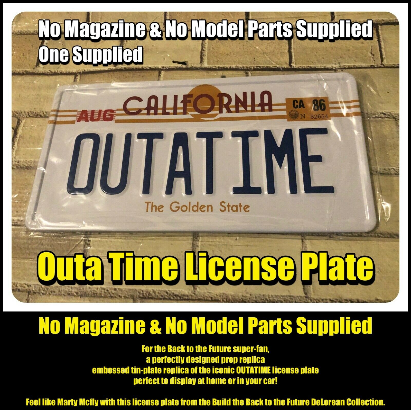 Outa Time License Plate