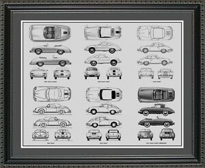 Blueprint art porsche 356 auto collection car artwork gift image is loading blueprint art porsche 356 auto collection car artwork malvernweather Images
