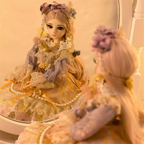 60cm BJD Doll 1//3 Girl Dolls with Face Makeup Long Wig Dress Shoes Birthday Gift