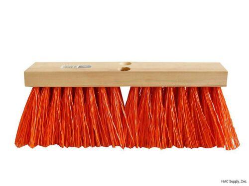 "Poly Bristles Magnolia 1316-O 16/"" Orange Street Broom Head Only"