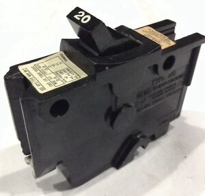 020 FEDERAL PACIFIC CIRCUIT BREAKER 1POLE 20AMP 120V NEW