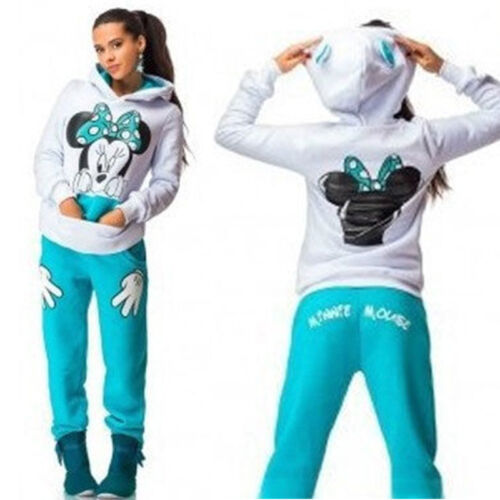 Damen Trainingsanzug Hausanzug Hoodie Sweatshirt Hose Jogginganzug Sport Gym Set
