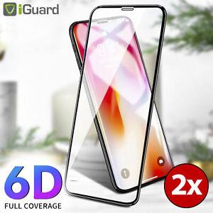 2x-6D-Glasfolie-fuer-Apple-iPhone-XS-5-8-Panzerfolie-Echt-Glas-9H-Schutzglas