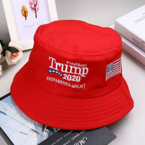 Donald Trump 2020 Keep America Great Again Hat Embroidered Fisherman Cap CA KX