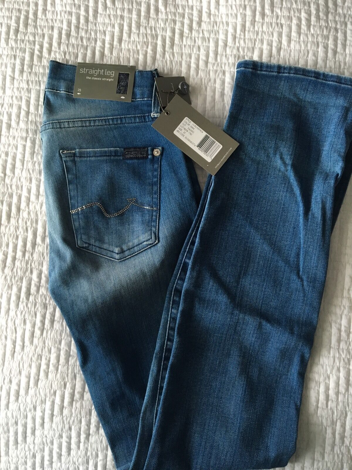 7 For All Mankind Women's Jeans Original Brand New Size 25  bluee skinny