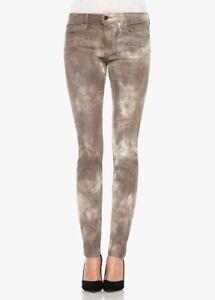 f21dd3c0f1 JOE'S Jeans Coated Reptile Flawless Mid Rise Skinny Pants Brown ...