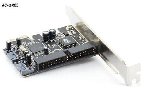 2 Serial-ATA II 3.0 Gbps AC-SX03 1 ATA//133 Combo PCI Express Card w//RAID