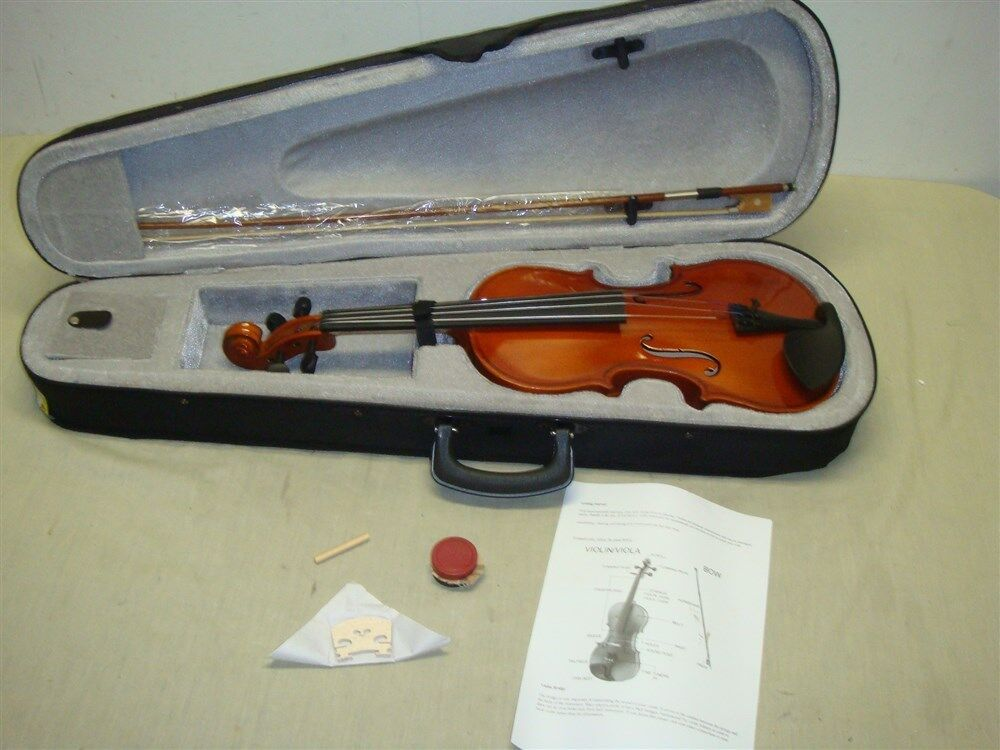 4/4 STUDENT VIOLIN WITH CASE, BOW, AND ROSIN - READ
