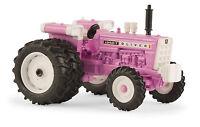 1/64 Ertl Pink Oliver 1950t W/ Fwa & Rear Duals Tractor