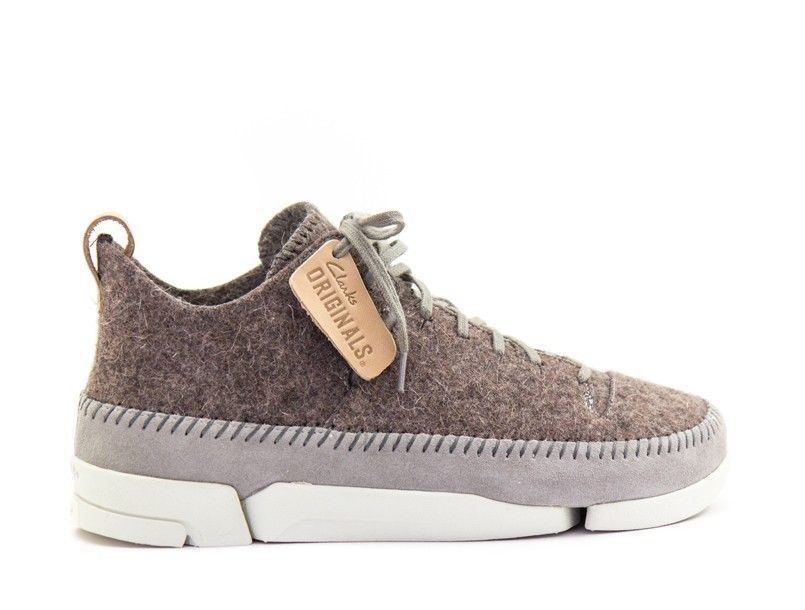 Clarks ORIGINALS Trigenic Grey Felt   Wool shoes – Size 10 UK       NEW