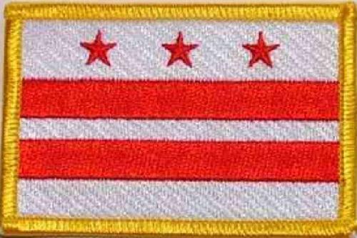 Ricamate District Columbia bandiera bandiera aufbügler Patch 8 x 5 cm