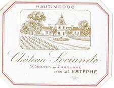 VIN DE BORDEAUX CHATEAU SOCIANDO Saint Seurin  Saint Estephe ancienne étiquette