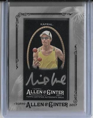 2017 Allen and Ginter #160 Michal Kapral Joggler Baseball Card