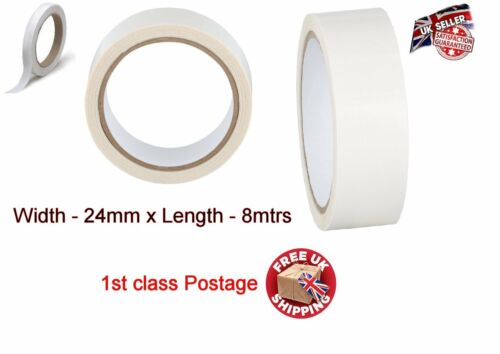 DIY Adhesive Double Sided Clear Strong Sellotape Tape Rolls Permament Craft Self