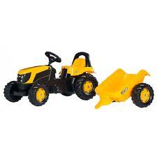 Rolly Toys JCB  Lader mit Anhänger ohne Frontlader  Traktor Trettraktor gelb