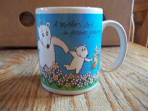 Coffee-Mug-Mom-Bear-Family-A-Mother-039-s-Love-is-Forever-Growing-Vintage-Avon-Cup