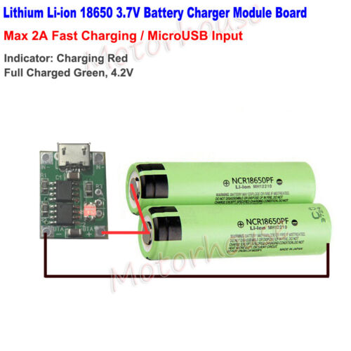 2A  TP4056 Micro USB Lithium Li-ion 18650 Battery Charger Charging Board 5V 3.7V
