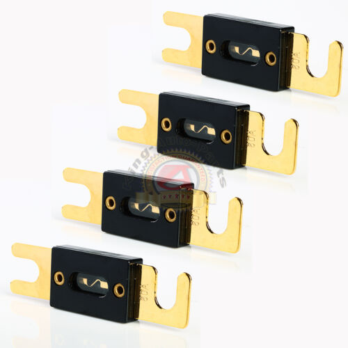 4 PACK Nickel Plated ANL Fuse Auto Stud Fuses 80A AMP Gold Plated