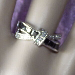 New-White-Gold-Filled-Black-Cubic-Zirconia-Crossover-Rings-for-Women