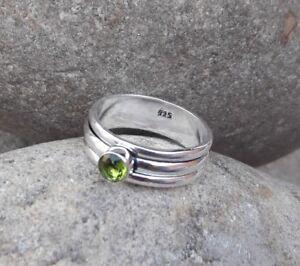 Peridot-Solid-925-Sterling-Silver-Spinner-Ring-Meditation-statement-Ring-SR305