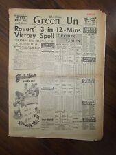 VINTAGE NEWSPAPER GREEN-UN DECEMBER 18th 1954 SHEFFIELD UNITED WIN AT EVERTON