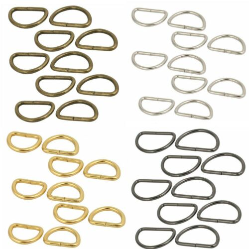 Metal Non Welded D Ring Buckles Assorted Size for Hand Bag Webbing Strap Clothes