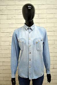 Camicia-POP84-Donna-Taglia-Size-42-Maglia-Chemise-Top-Shirt-Woman-Cotone-Blu