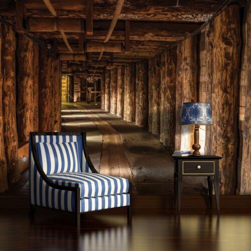 Nappes papier peint papiers peints photos papier peint tunnel corridor bois mine 14n1962vexxl